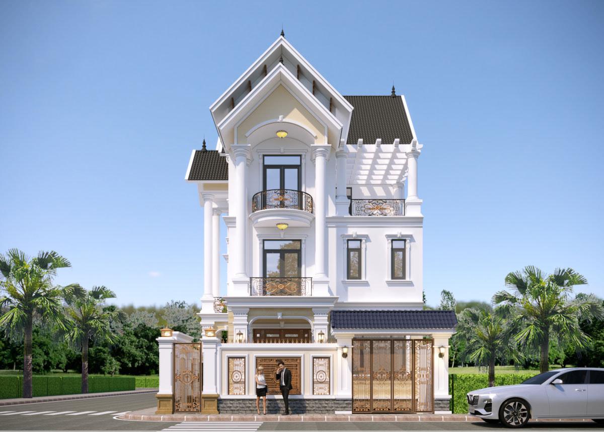 Mẫu biệt thự đẹp thiết kể bởi KTS Vũ Duy