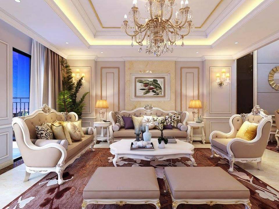 Thiết kế phòng khách theo hướng tân cổ điển sao cho sang trọng